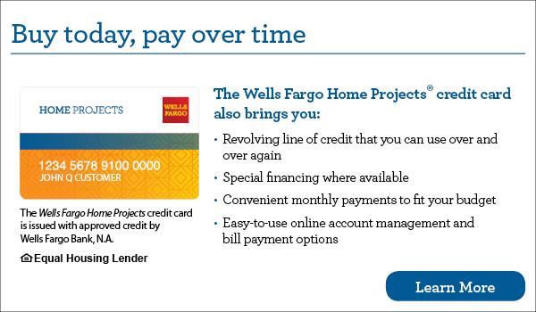 Wells Fargo financing options
