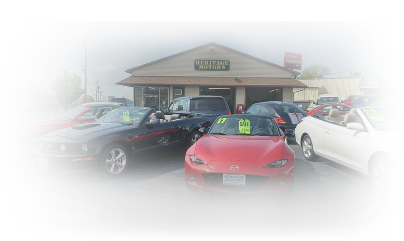 Photo of Heritage Motors building and used car lot