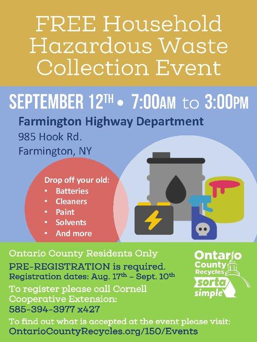 September Hazardous Waste Collection Event