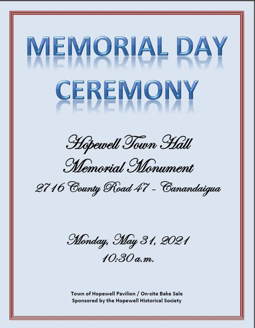 Memorial Day - Town of Hopewell