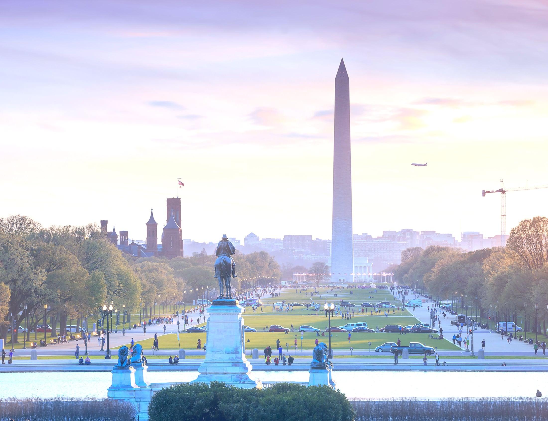 Background image of Washington D.C.